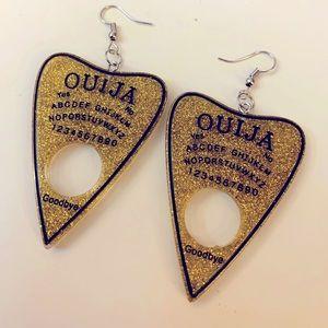 New Handmade Ouija Planchette Earrings